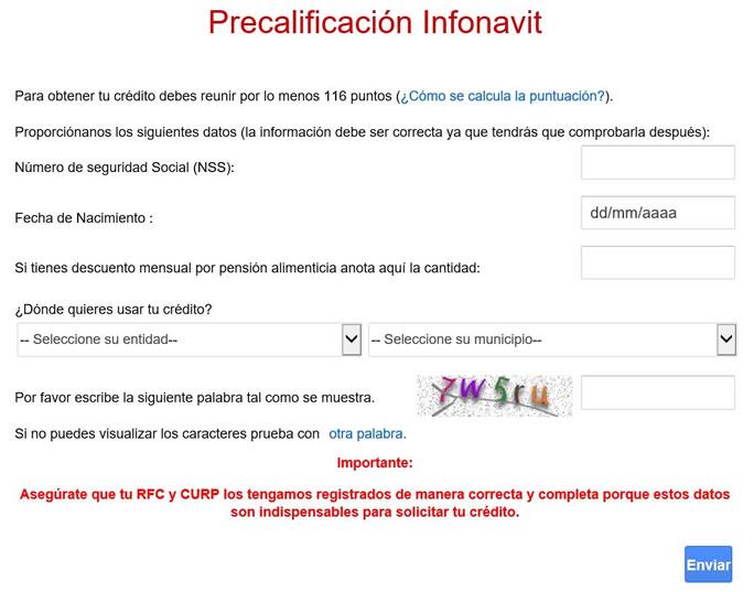 Precalificación Infonavit tradicional 2016